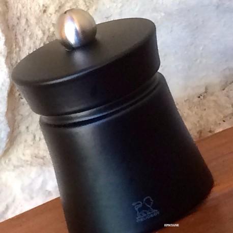Moulin à poivre Peugeot 8cm en bois noir mat modèle Baya