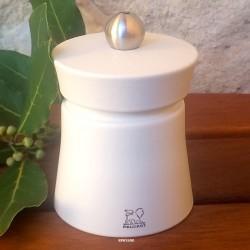 """Moulin à poivre Peugeot 8cm blanc ivoire """"Baya"""""""