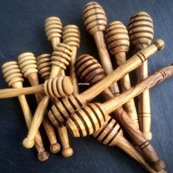 Cuillère à miel en bois d'olivier 11 et 14cm