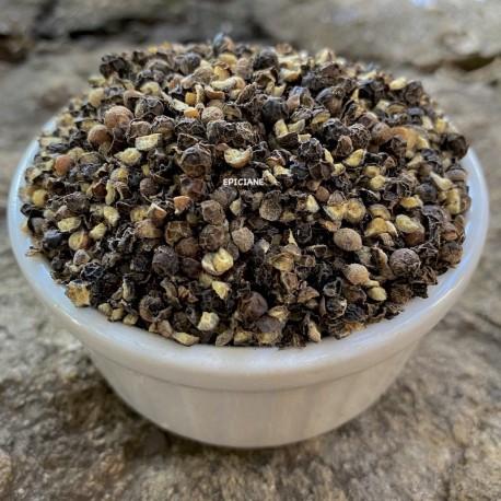 Poivre Noir concassé en gros grains 2mm et plus