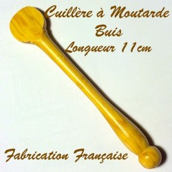 Cuillère à moutarde en buis